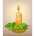 cartoons decoration candle vector image