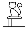 cat on stand icon outline style vector image