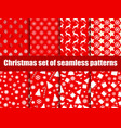 christmas seamless patterns christmas trees vector image vector image