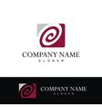 circle swirl company logo vector image vector image