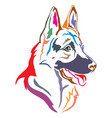 colorful decorative portrait of german shepherd vector image