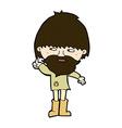 comic cartoon hippie man in wellington boots vector image vector image