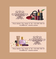 cosmetic business card beauty make up vector image vector image
