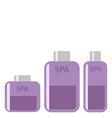 cosmetics bottle product flat icon flat vector image vector image