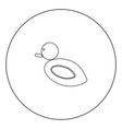 duck icon black color in circle vector image vector image