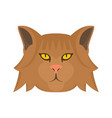 fashion head cat icon flat style vector image