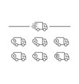 fast shipping delivery truck vector image