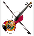 florida fiddle vector image vector image