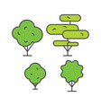 garden decoration line icon concept garden vector image