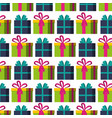 gifts boxes pattern background vector image