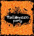 Grunge Dirty Frame for Halloween Party vector image vector image