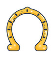 horseshoe lucky isolated icon vector image