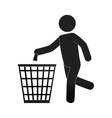 human silhouette recycling icon vector image