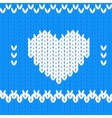 Knitted textile decorative valentine heart vector image vector image