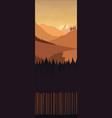 Landscape monochrome brown