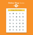 line online web shop and retail tiny icon set vector image vector image