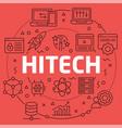 linear hitech vector image
