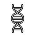 medical dna molecule genetic structure line icon vector image