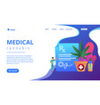 medical marijuana concept landing page vector image vector image