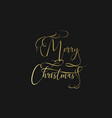 merry christmas hand lettering in gold isolated on vector image vector image