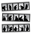 music filmstrip vector image