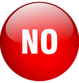 no red round gel isolated push button vector image vector image
