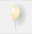 orange balloon 3d thread isolated white vector image