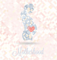 Pregnant Woman With Heart in Belly vector image vector image