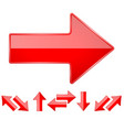 red shiny straight 3d arrows vector image vector image