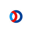 round circle loop company logo vector image vector image
