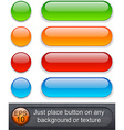 Rounded glossy buttons vector image vector image