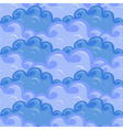 Seamless of clouds in different colors of blue vector image vector image