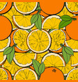 seamless pattern and background juicy oranges vector image vector image