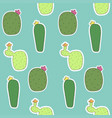 seamless pattern mexican cactus flower cactus vector image vector image