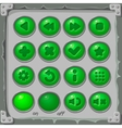 set green buttons game icons vector image