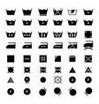 set laundry dry icons vector image vector image