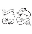 set of decorative calligraphy ribbon frame banner vector image