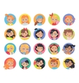 Set of Girl Avatar Userpics Buttons Isolated vector image