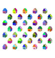 small colored houses vector image vector image