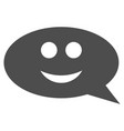 smile chat message flat icon vector image