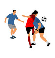 soccer players in duel football players isolated vector image vector image