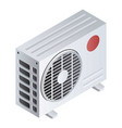 split air conditioner icon isometric style vector image vector image