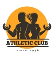 Sport Athletic Club Emblem vector image vector image