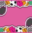 sport patches sticker background design vector image