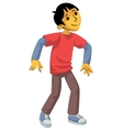 Standing boy in sportswear vector image vector image