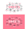sweets with cake bread and ice cream vector image vector image