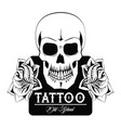 tattoo studio design in black and white vector image vector image