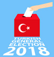 turkish general elections 2018 vector image