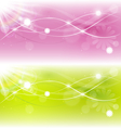 Two abstract spring background with sunlight vector image
