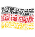 waving german flag pattern of stop text items vector image